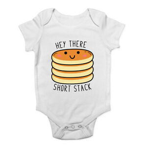 Hey-There-Short-Stack-Pancake-Day-Boys-Girls-Baby-Grow-Vest-Bodysuit
