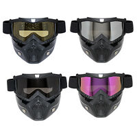 Motorcycle Ride Ski Airsoft Tactical Military Mask Shield Goggle Glasses Helmet