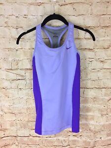 Nike-Dri-Fit-Purple-Racerback-Tank-Top-Workout-Built-In-Bra-Size-Small