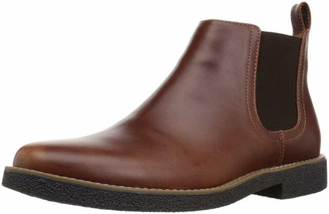Deer Stags Mens Rockland Leather Closed Toe Ankle, Redwood/Dark Brown, Size 11.5