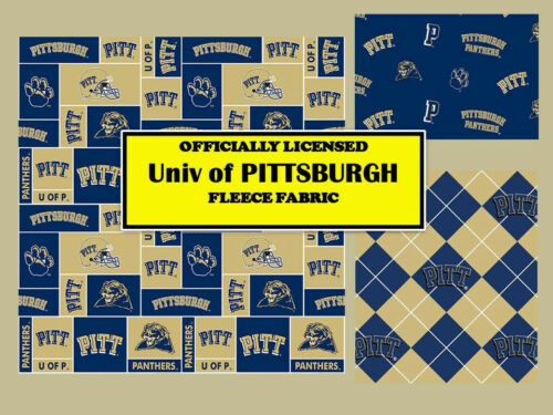 UNIVERSITY OF PITTSBURGH FLEECE FABRIC-PITTSBURGH PANTHERS FLEECE-ALL PATTERNS