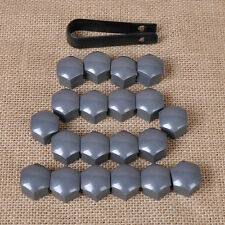 20pcs Gray Wheel Lug Nut Center Cover Caps + Removal Tool for VW Audi Skoda Seat