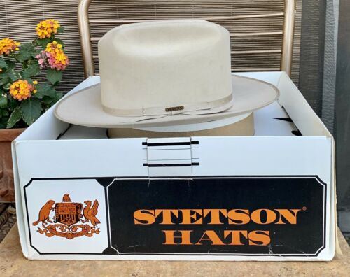 Vtg STETSON Cowboy Hat 6 7/8 Western Fedora OPEN R