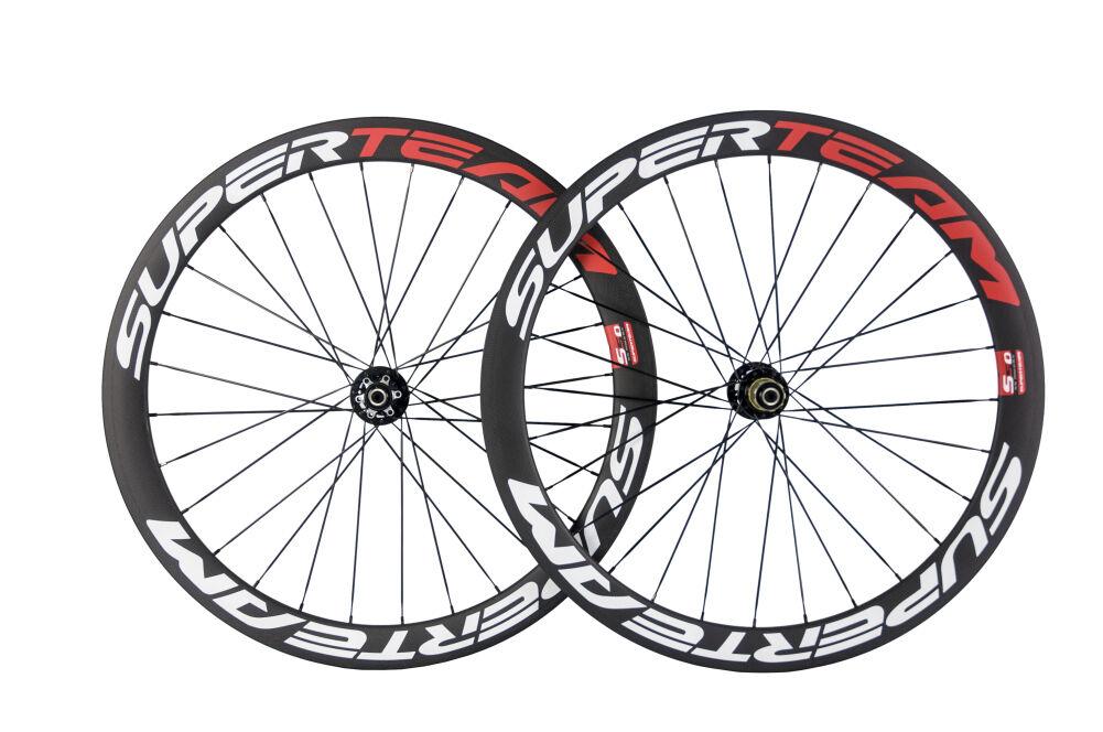 Superteam Disc Brake Wheels Road Cykel Carbon Wheelset Novatec711 -722 Hub Disc