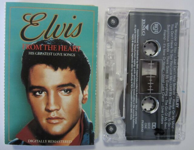 ELVIS PRESLEY FROM THE HEART HIS GREATEST LOVE SONGS OZ RELEASE CASSETTE TAPE