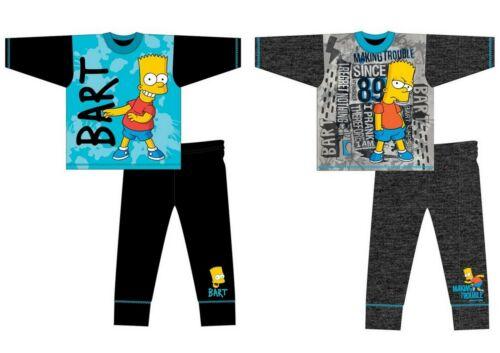 Boys Kids Children Bart Simpsons Long Sleeve Pyjamas pjs set Age 5-12 years