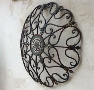 Details About Vintage Style Iron Wall Art Garden French Country Large Fleur De Lis Sculpture