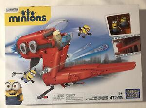 Mega Bloks Minion Movie Supervillain Jet New