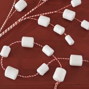 Details About New Raz Imports 6 Marshmallow Garland Wreath Tree Christmas Spray Swag