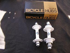 SUZUE NOS HUBS WHITE 36 HOLE BMX FREESTYLE RACING CRUISER BICYCLE VINTAGE
