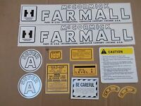 Farmall Super A Decal Set. All Decals On Tractor. See Details