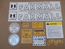 Farmall Super A Decal Set All Decals On Tractor Mylar See Details