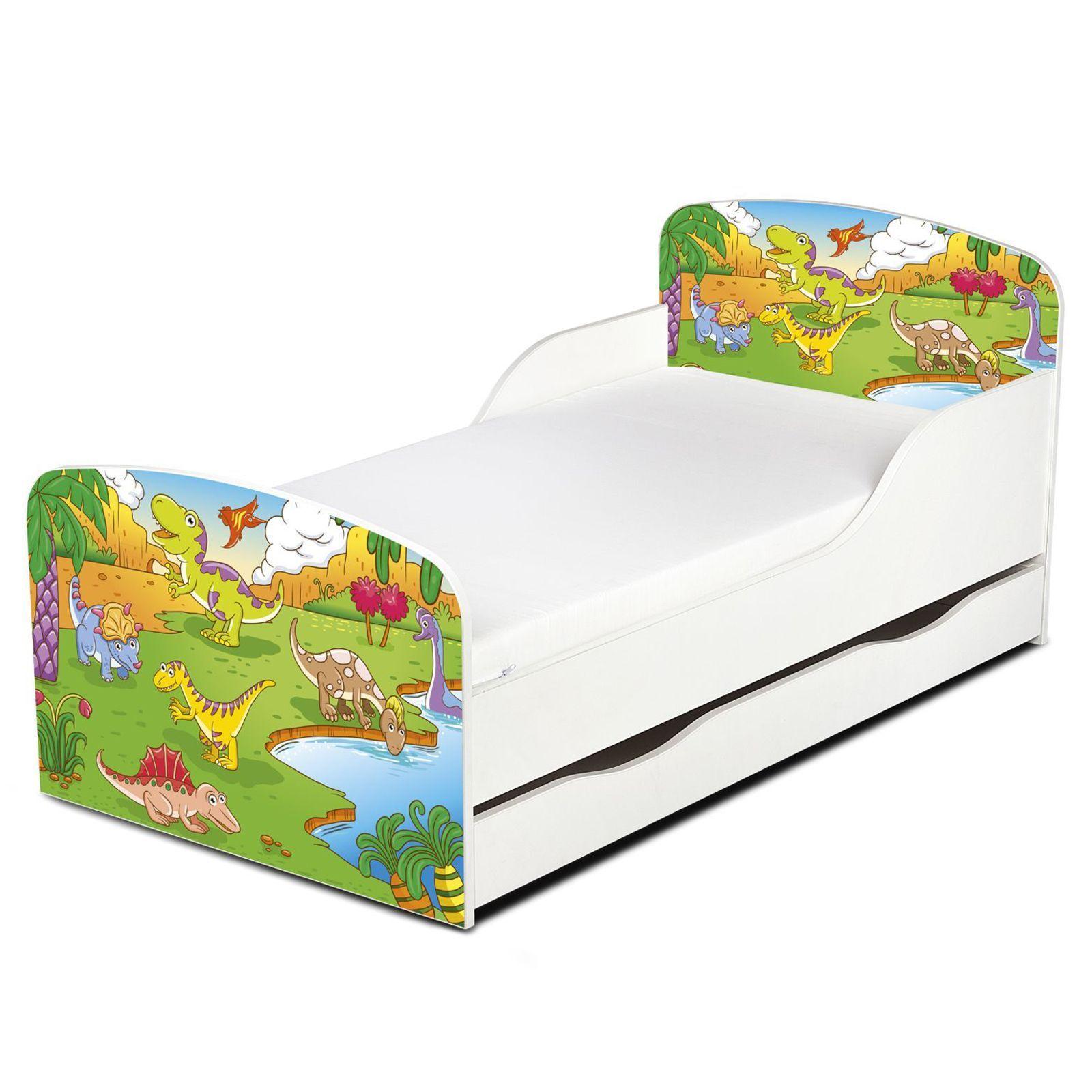Dinosaurios MDF cama cama cama infantil con almacenamiento NUEVO Dormitorio 550cc6