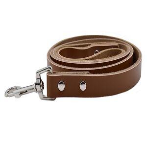 Hundeleine-Echt-Leder-Hunde-1-2m-1-5-2-0cm-Breit-Fuehrleine-Leine-Braun-Hunter