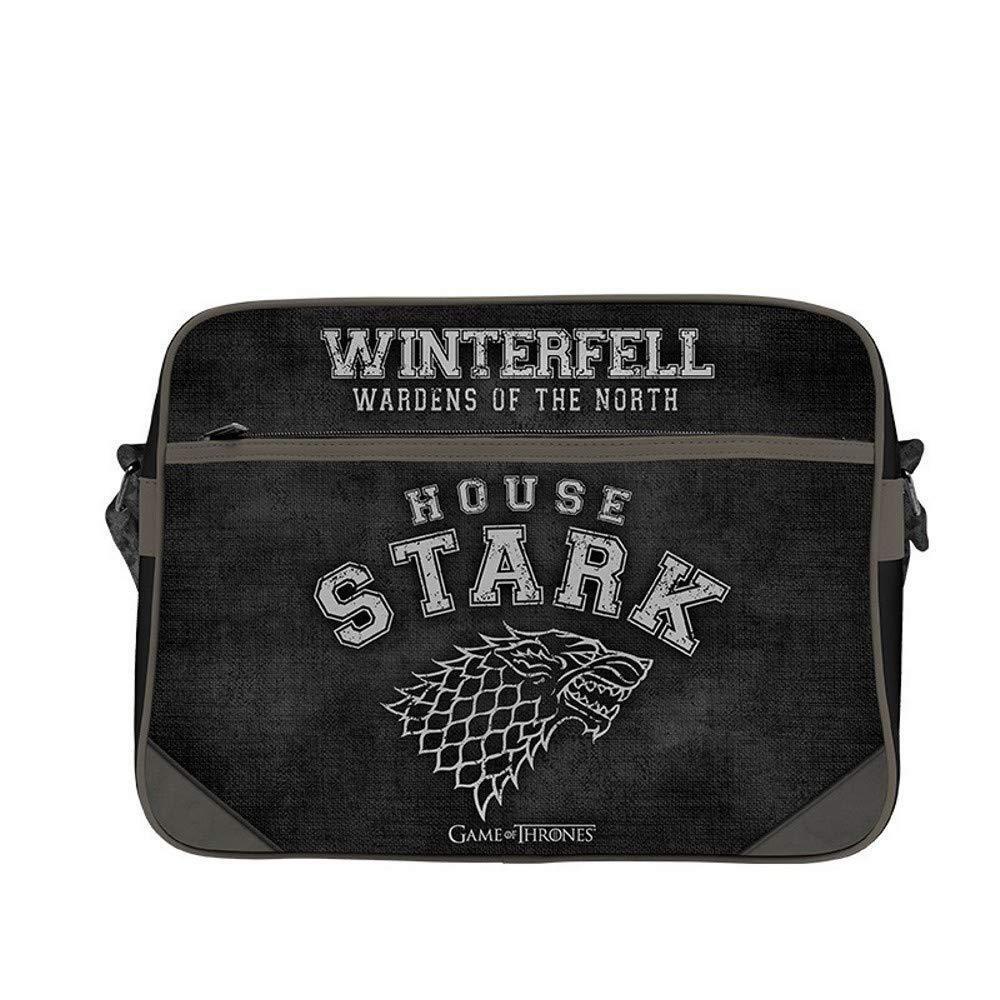 Game of Thrones - Messenger Tasche - Umhängetasche - Wappen Stark - Winterfell    | Schnelle Lieferung