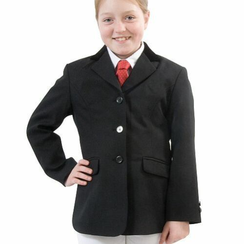 New  Hobart Show Jacket Plain or Silver Buttons Black or Navy Child Riding