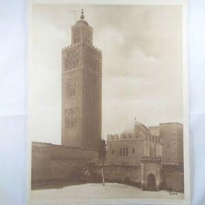 Photo-Flandrin-large-Heliograph-Editions-Mars-70-Marrakech-La-Koutoubia