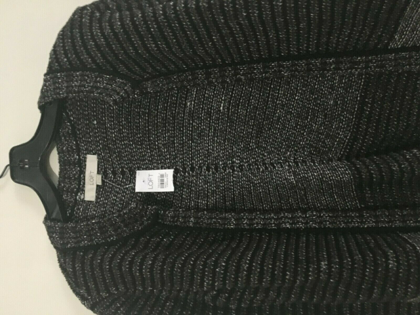 NWT Ann Taylor Loft Tweed Brown Cardigan Size S S S Sweater Top Women 100% Cotton 095171