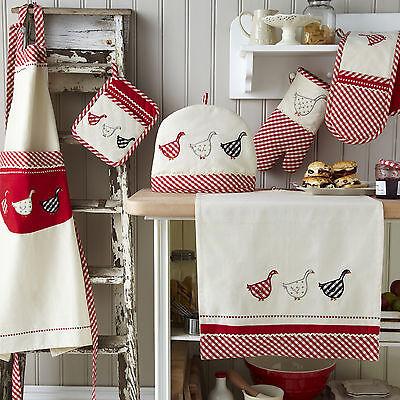 Ulster Weavers Gingham Geese Tea Towel, Oven Glove or Tea Cosy