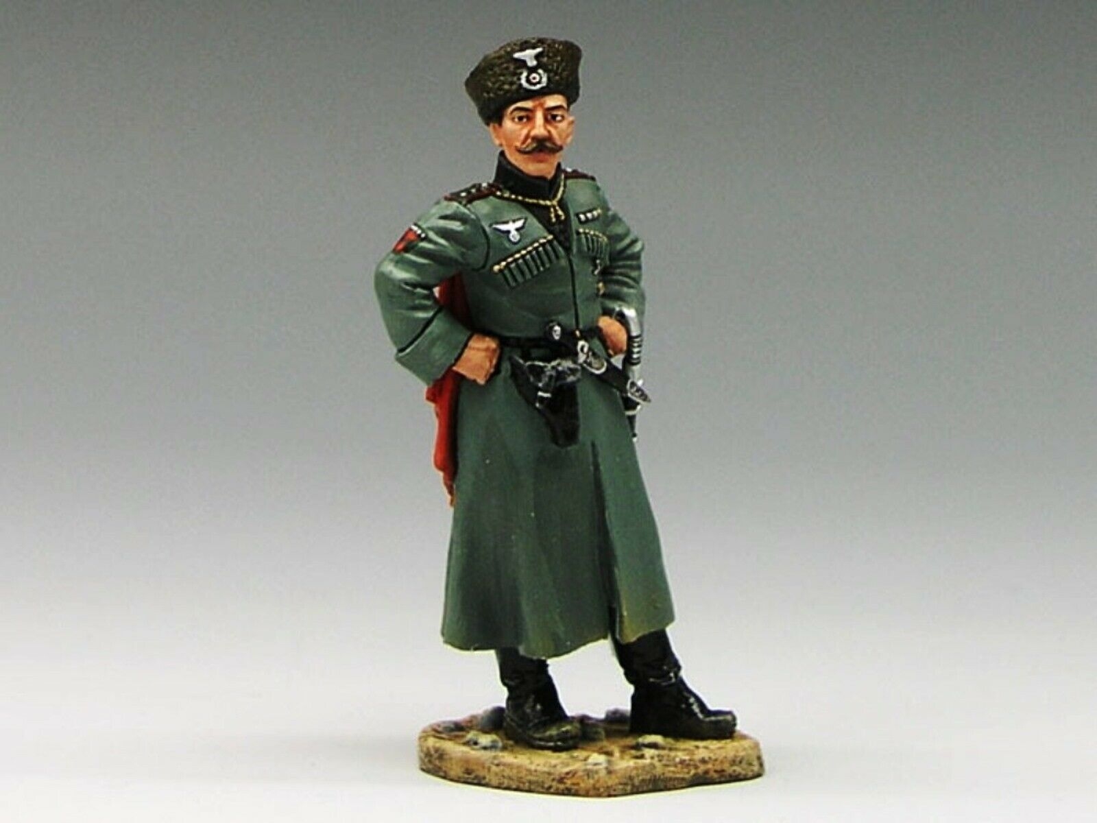 WOW EXTREMELY RARE King & Country Country CF015 German Cossack Officer 4th KB Reg-BNIB