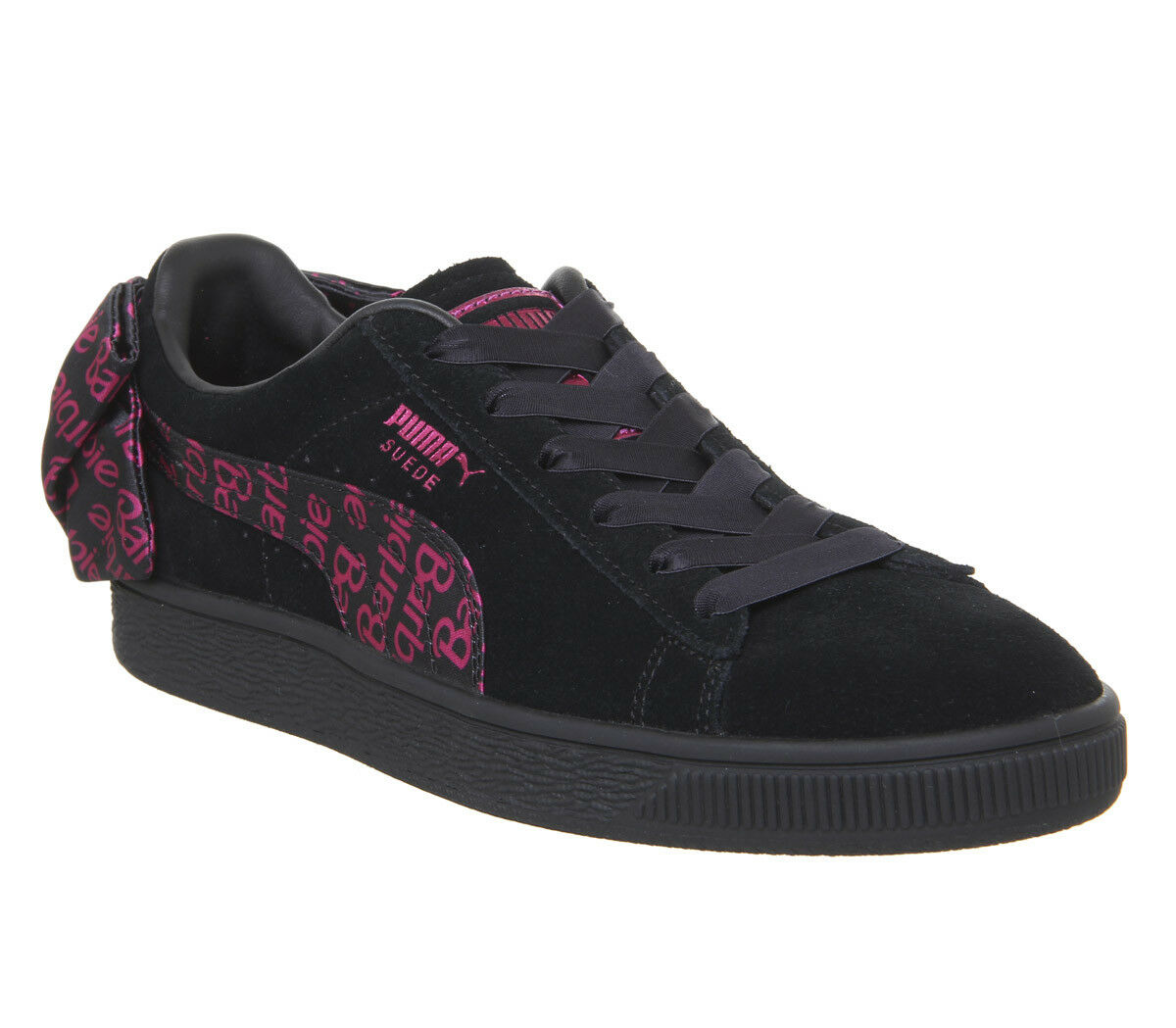 Womens Puma Suede Classic Trainers Barbie Team gold Black Trainers shoes