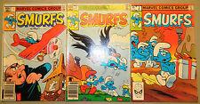 SMURFS 1 2 3 COMICS SET MARVEL CARTOON MOVIE PEYO 1982