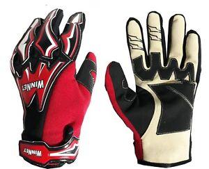 Guanti-per-moto-da-cross-enduro-DH-bici-MTB-di-colore-rosso-rossi-L-XL-2XL-3XL-9