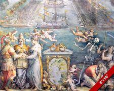 NAVAL BATTLE OF LEPTANO PAINTING OTTOMAN VENITIAN WAR ART REAL CANVASPRINT