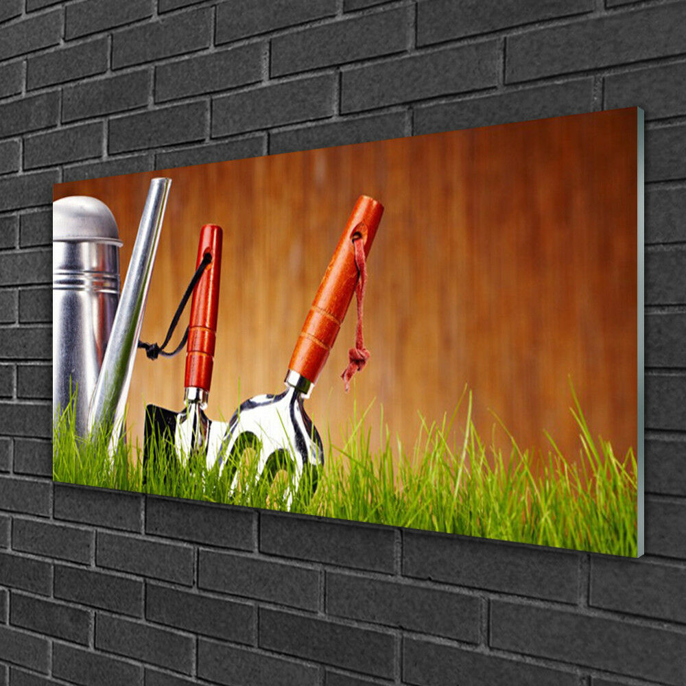 Acrylique Print Wall Art Image 100x50 Photo Arrosoir Herbe Art