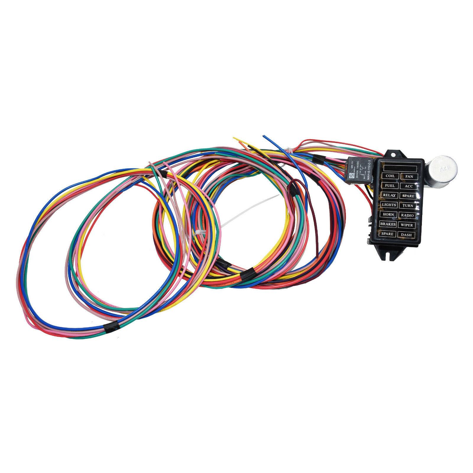 Gearhead USA GM 21 Circuit Street Rat Rod Universal Color Wiring Kit