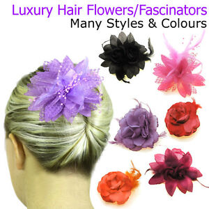 Image is loading Hair-Fascinators-Flowers-Girls-Bridesmaid -Accessories-Kids-Head- 9778589dd4a