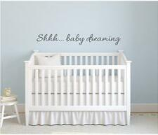 Tranquilícese Bebé Habitación Niños cotización De Pared Sueño Arte Calcomanía Vinilo Sticker cualquier