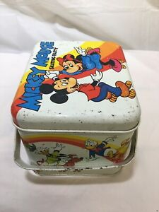 Disney's Mickey Mouse Skating Party Tin Lunch Box