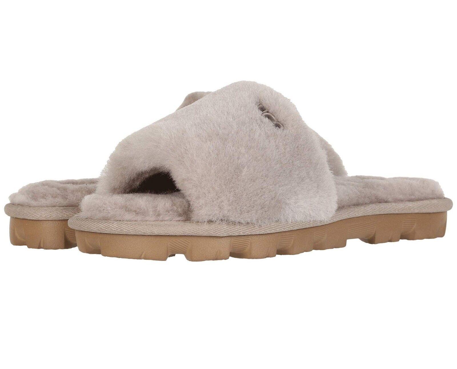 a68733ddd UGG Women's Cozette UGGpure Sheepskin Slides Oyster Gray Size 7 for ...