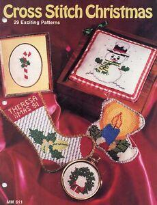 Leisure Arts Christmas Stitchin/' 1981 Cross Stitch Tree Ornament Making