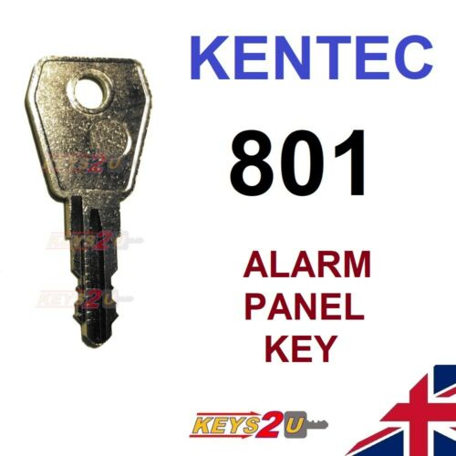 KENTEC 801 Replacement Spare Key Cut to Code for Fire//Alarm Panel Key Switches