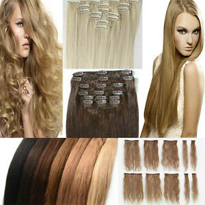 8pcs full head clip in hair extension uk s noilite hair woman lady image is loading 8pcs full head clip in hair extension uk pmusecretfo Choice Image