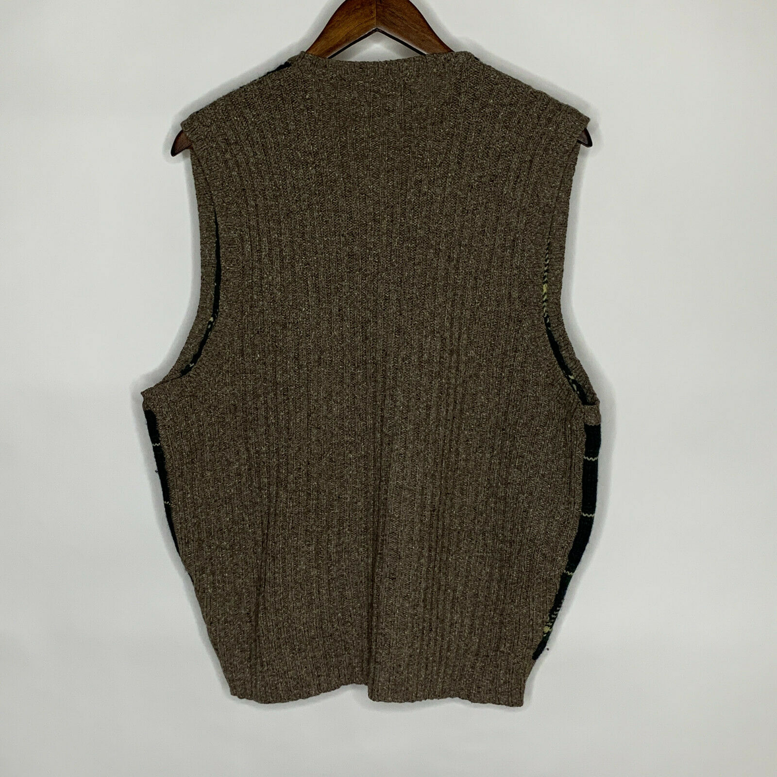 Polo by Ralph Lauren Green Plaid Sweater Vest Woo… - image 3