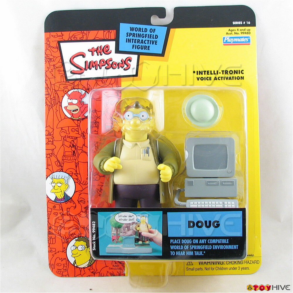 Simpsons Doug Series 16 playmates World of of of Springfield interactive figure 43455c