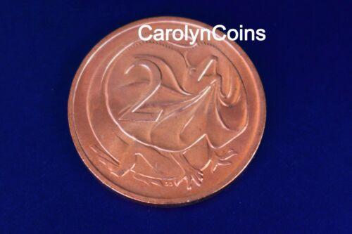 2c Coin 1977 Frilled Necked Dragon Lizard Australian 2 Cent UNC in 2x2 holder