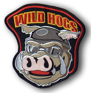 "WILD HOGS jacket back patch 12"" BEST COLOUR MATCH"