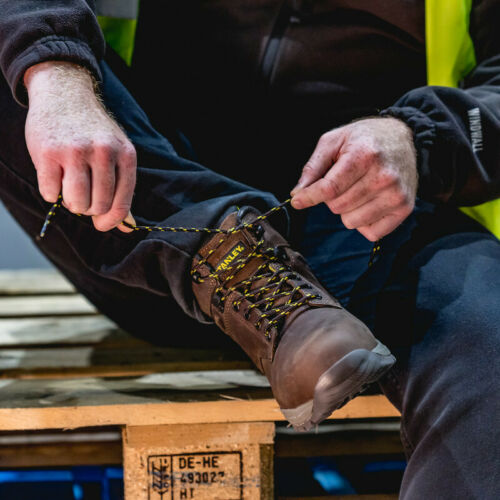 Stanley Impact Safety Boots Brown Size