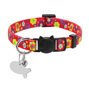 Cat-Collar-Breakaway-amp-Tag-Custom-Safety-Quick-Release-for-Puppy-Pet-Dog-Kitten
