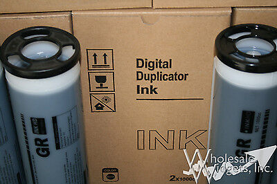 4 Black High Density Super HD Inks Compatible With Riso S-2314 For Risograph GR