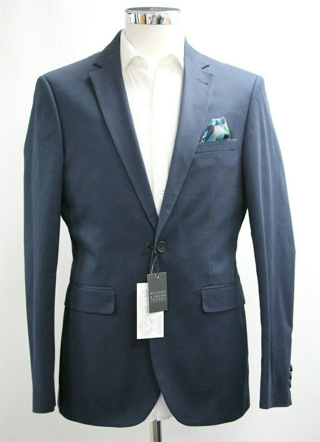 Men's Williams & Brown Navy bluee Blazer (40R).. Sample 3865