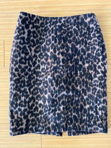 Talbots Size 0 Petite Leopard Print Skirt Animal P
