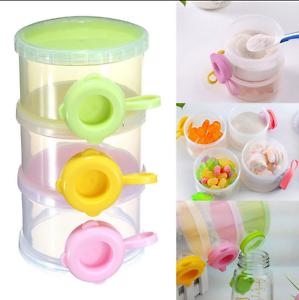 3 Layers Baby Milk Powder Formula Dispenser Feeding Case