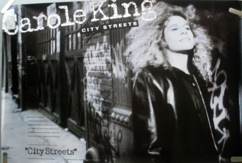RARE CAROLE KING CITY STREETS 1989 VINTAGE ORIG MUSIC RECORD STORE PROMO POSTER