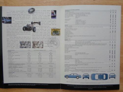 V6 SE V8 JAGUAR S TYPE orig 1998 UK Mkt Sales Brochure Vehicle ...