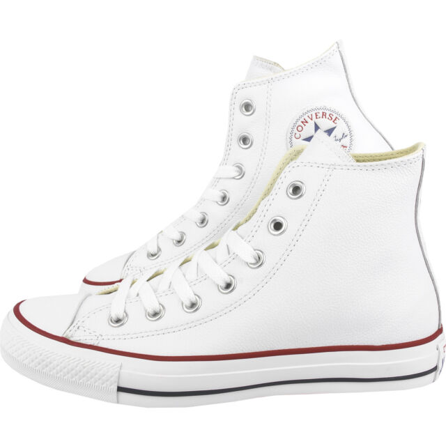 43332a785ba369 Converse All Star Chuck Taylor Leather Hi Top White 132169c Size ...